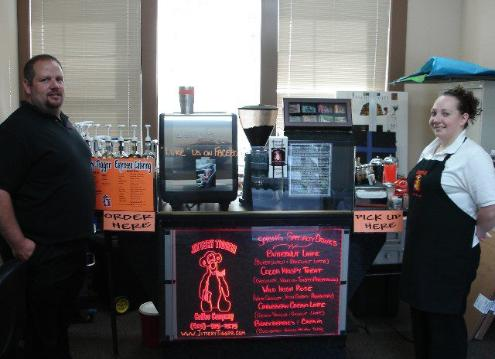 Russell and Lacey Anderson of Jittery Tiggrr Espresso Catering